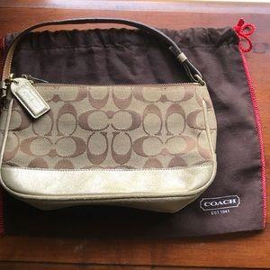 COACH classic gold purse